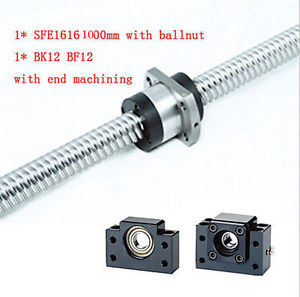 TBI SFE1616 Ball Screw L1000mm & BK12 BF12 Support EDM Ballnut CNC Engraving