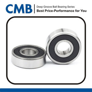 2PCS 6209-2rs C3 Rubber Sealed Ball Bearing 6209-2RS C3 45x85x19mm Brand New