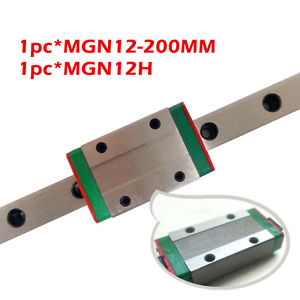 1PC Miniature Linear Guide MGN12 L-200MM + 1PC Linear Carriages Block MGN12H CNC