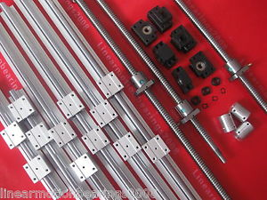 2 set SBR linear rails 2pcs ballscrews+2sets FK/FF12 end bearings 2couplings CNC