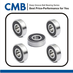 5pcs 6301-2RS Rubber Sealed Deep Groove Ball Bearing 6301 2RS Bearing 12x37x12mm