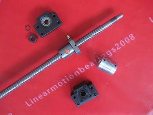 1antibacklash ballscrew 1605-750mm-C7+BK/BF12+couplers