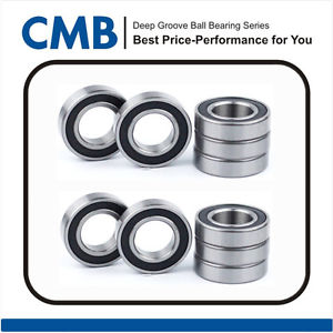 10PCS 6301-2rs C3 Deep Groove Ball Bearing 12x37x12mm Rubber Sealed Bearing