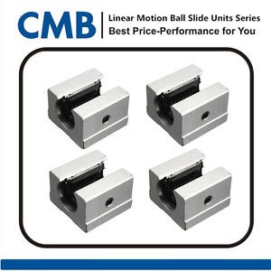 4PCS SBR16UU 16mm Open Linear Bearing Slide Linear Motion Block Unit Brand New