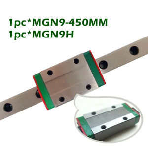 1 Set Miniature Linear Guide Kit 1pc MGN9 Length 450mm With 1 Linear Block MGN9H