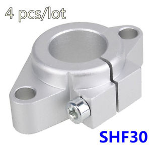 4pcs/lot SHF30 For OD30MM Linear Axis Support CNC Part Free Shipping Rod Holder