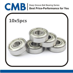 50PCS 609-2Z 609ZZ Deep Groove Double Metal Shielded Ball Bearing 9x24x7mm