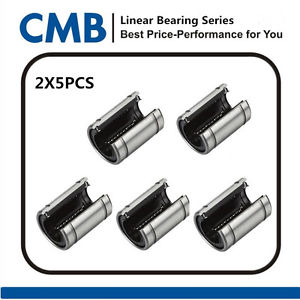10pcs LM12UUOP 12mm Open Linear Ball Bearing 12x21x30 mm