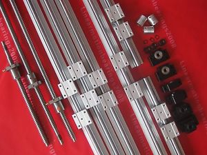 3 Lead screws ballscrew +3set SBR rails + BK/BF10+3 couplings (Free shipping)