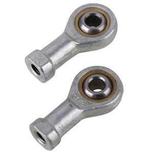 2x High Precision 6mm Left Hand Self Lubrication Threaded Rod End Joint Bearing