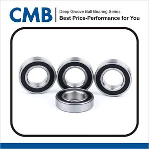 4PCS 6303-2rs C3 Rubber Sealed Ball Bearing 17x47x14mm