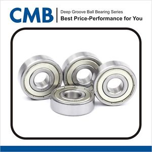 4PCS 6206 ZZ 6206-2Z Double Metal Shielded Ball Bearing 30x62x16mm