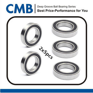 10pcs 6908-2RS 6908 2RS Rubber Sealed Ball Bearing 40 x 62 x 12mm