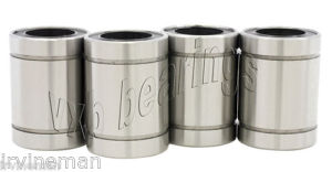 Lot/Pack of 4 Ball Bushing 20mm Bore LME20UU Linear Motion CNC Routers Bearing