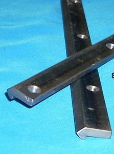 "54 5/8"" #2 V-TRACK STEEL DRILLED CNC actuators guide rail V-groove bearing"