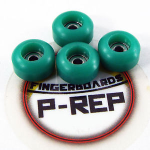Peoples Republic- CNC Lathed Bearing Wheels for wooden fingerboard – Green