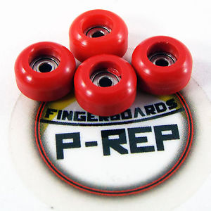 Peoples Republic- CNC Lathed Bearing Wheels for wooden fingerboard – Red