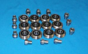 "RM2-2RS 3/8"" SEALED V-GROOVE CNC BEARING + BUSHG 12 PCS – SHIPS FROM THE U.S.A."