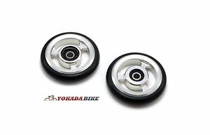 Brompton EZwheels easy wheels EZ Aluminum 7075 CNC with Bearing Made In Taiwan