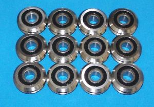 "RM2-2RS 3/8"" SEALED V-GROOVE CNC BEARING 12 PCS – SHIPS FROM THE U.S.A."