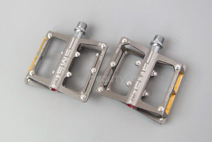 SMS-361 CNC Mountain Road sealed Bearing Pedals flat-Platform 9/16 in pedal Gray