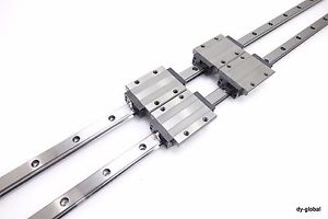 SHS30LC+1650mm THK Linear Bearing Used LM Guide Preload CNC Route 2Rail 4block