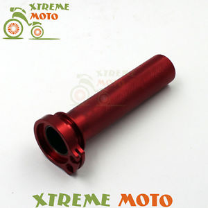 CNC Billet Red Twister Throttle Tube With Bearing For Honda CRF 250R 250X 450R