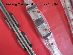 2 DFH20B-500mm LINEAR GUIDE RAILS PROFILE +4 SLIDE BEARING CARRIAGE CNC ROUTER