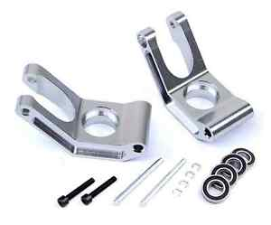 CNC ALLOY rear hub carrier set bearing block FOR HPI BAJA 5B 5T KM silver