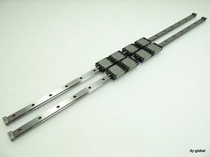 THK Used Miniature Linear Bearing 4RSR15VM+680L LM Guide 2Rail 8blocks CNC Route