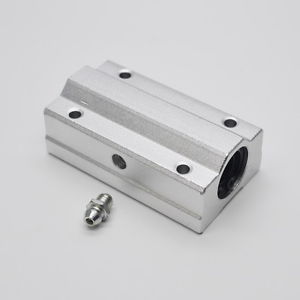 SCS10LUU (10mm) (2 PCS) Metal Linear Ball Bearing FOR XYZ Table CNC Route