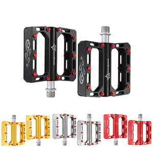 RockBros Mountain Bike Pedals Flat Alloy Sealed Bearing CNC Spindle 9/16 Pedals