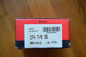10 McGill Cam Follower CFH 7/8 SB New in Box 10 Cam Followers in Each Box