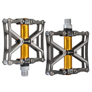 RockBros Cycling Aluminum Alloy Platform Sealed Bearing CNC Spindle Pedals Ti