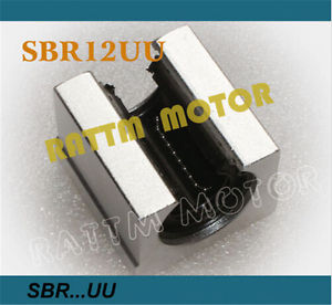4Pcs SBR12UU 12mm Open Linear otion Bearing Rail Slide Block For CNC Router