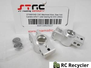 STRC CNC Machined Alu Rear Hub Carriers Outer Bearings STA80104S Axial EXO 1/10
