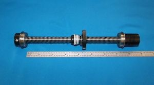 """6"""" acme leadscrew 1/2-10 with delrin nut, bearings, clamp coupler for CNC router"""