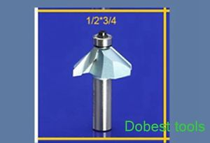 1piece 45degree chamfer bearing bevel angle CNC router bit trimming 1/2*3/4