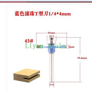 1piece 1/4*4 T type bit with bearing CNC router bits wood working tools