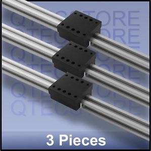 Q-glide 595 mm CNC linear guide & PTFE bearings block – 3 sets