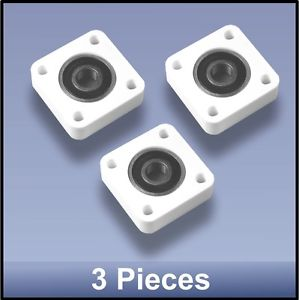 Compact Quality CNC 10mm 4 Bolt Square Block Flange  Bearing Block  – 3 pieces
