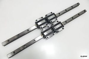 THK LM Guide Used HSR30A+790mm Linear Actuator Bearing CNC Route 2Rail 4Block