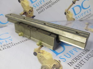 THK 5J509 LINEAR GUIDE RAIL W/ TWO LINEAR GUIDE BEARINGS NEW
