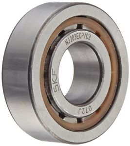 SKF NJ 203 ECP/C3 Cylindrical Roller Bearing, Single Row, Removable Inner Ring,