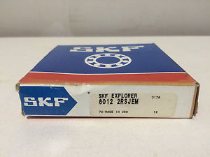 NIB SKF 6012 2RSJEM Single Row Sealed Ball Bearing 60mm Bore