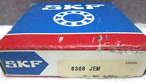SKF SINGLE ROW BALL BEARING 6308-JEM NEW 6308JEM