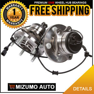 2 New Front Left and Right Wheel Hub Bearing Assembly Pair w/ ABS GMB 725-0319