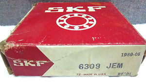 SKF SINGLE ROW BALL BEARING 6309-JEM NEW 6309JEM