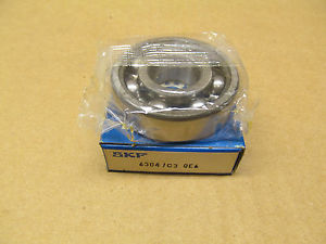1 NIB SKF 6304/C3 QE6 6304 JEM BF01 SINGLE ROW BALL BEARING 20MM X 52MM X 15MM