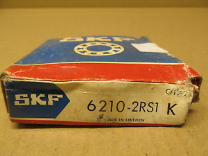 1 NIB SKF 6210-2RS1-K 62102RS1K SINGLE ROW BALL BEARING